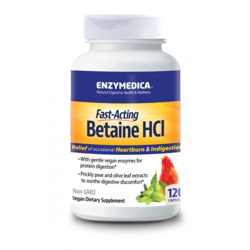 Enzymedica Betaine HCL 120 Capsules