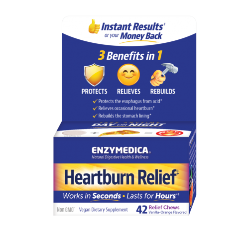 Enzymedica Heartburn Relief 42 Chewable Tablets