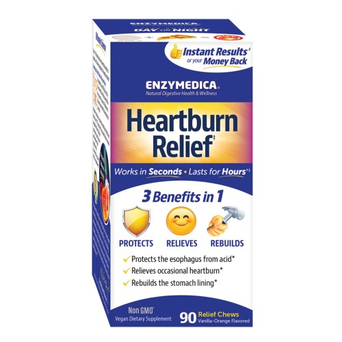 Enzymedica Heartburn Relief 90 Chewable Tablets