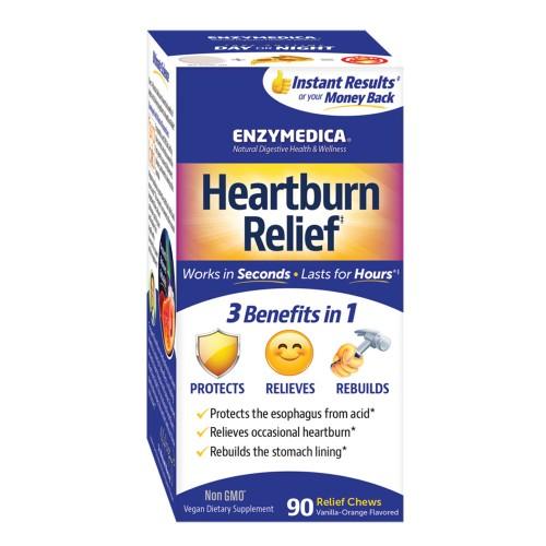 Enzymedica Heartburn Relief 90 Chewable Tablets