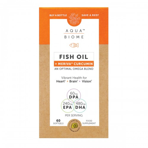 Aqua Biome Fish Oil Meriva Curcumin 60 Softgels
