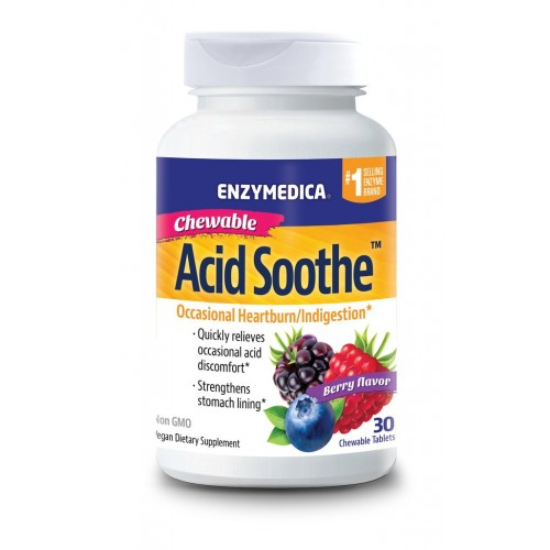 Enzymedica Acid Soothe Chewable 60 Tablets